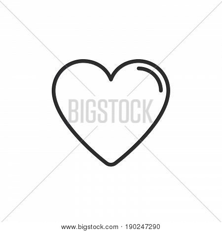 Heart favorite line icon outline vector sign linear style pictogram isolated on white. Love symbol logo illustration. Editable stroke. Pixel perfect