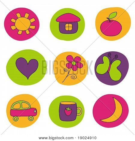 Set of icons for children