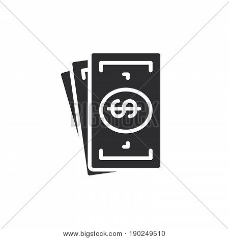 Cash money icon vector filled flat sign solid pictogram isolated on white. Symbol logo illustration. Pixel perfect