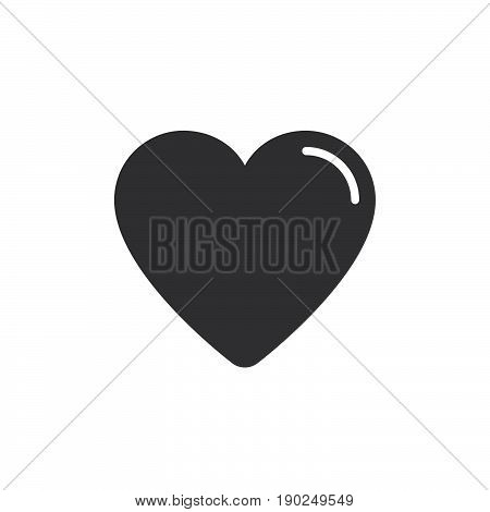 Heart favorite icon vector filled flat sign solid pictogram isolated on white. Symbol logo illustration. Pixel perfect