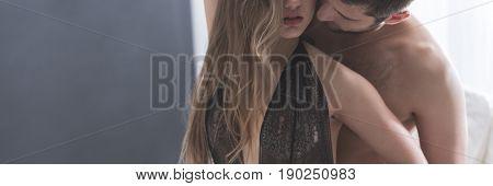 Woman Seducing Man