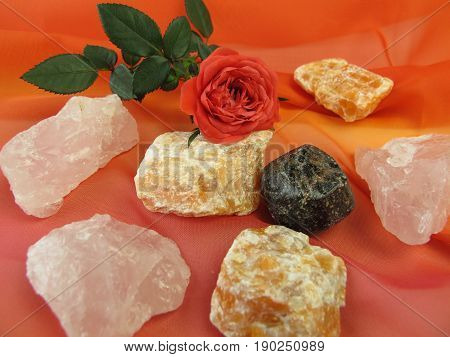 Gemstone mix for water revitalization love and harmony
