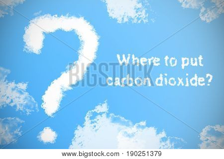 The Question From The Clouds In The Sky And The Inscription, Where To Put Carbon Dioxide