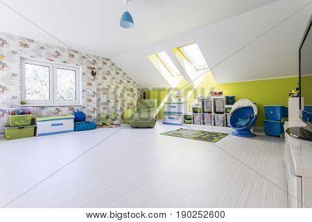 Big And Bright Child Room At The Attic