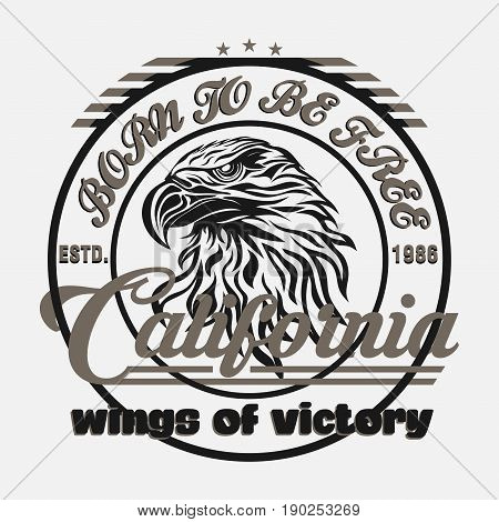 eagle head logo for t-shirt sport wear typography fashion typography sporty design the logo graphic print image
