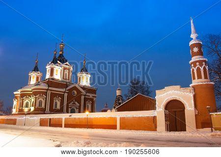 Kolomna, Moscow Region, Russia. Assumption Brusensky Female Monastery On Territory Of Kolomna Kremlin.