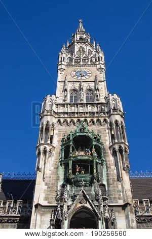 Glockenspiel At Marienplatz, Munich Germany
