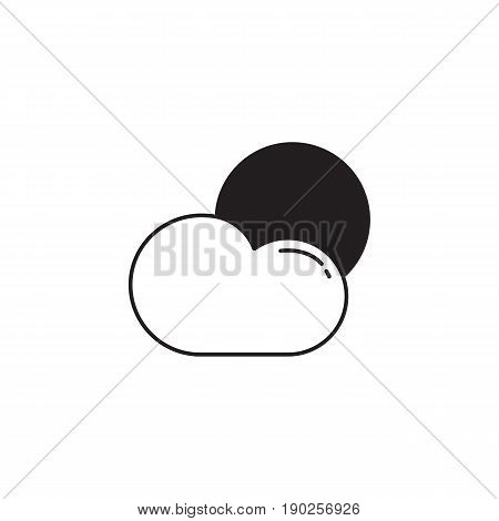 Weather solid icon, Sun with Cloud, Modern sign for mobile interface, vector graphics, a filled pattern on a white background, eps 10.