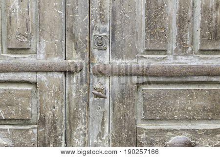 Door locks in urban building construction detail