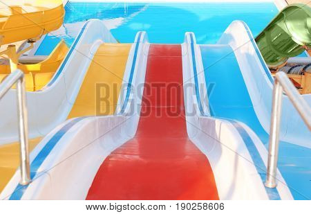 Resort with pools and aqua park