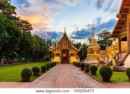 Buddhist Temple In Chiang Mai