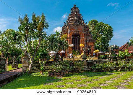 An altar in a courtyard near Bali Indonesia