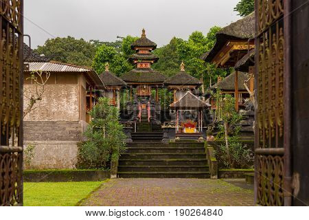 An entranceway to the grounds of the Besakih Temple in Bali Indonesia