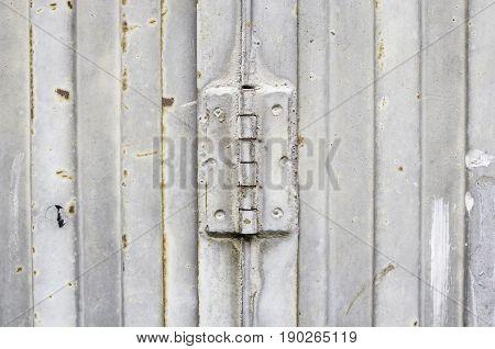 Metal door hinge industrial construction exterior street