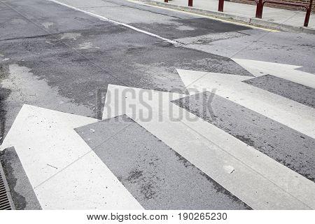 Pedestrian crossing in city road sign, transportation