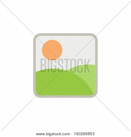 Photo Gallery and Picture flat icon, Modern sign for mobile interface, vector graphics, a colorful filled pattern on a white background, eps 10.