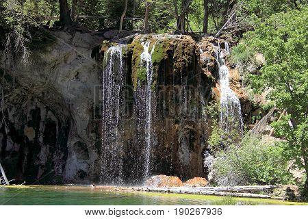 Hanging lake in Glenwood Canyon, Colorado, USA