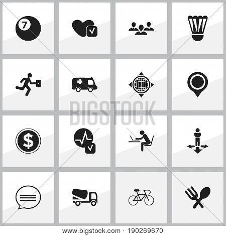 Set Of 16 Editable Complicated Icons. Includes Symbols Such As Currency, Group, Soul And More. Can Be Used For Web, Mobile, UI And Infographic Design.