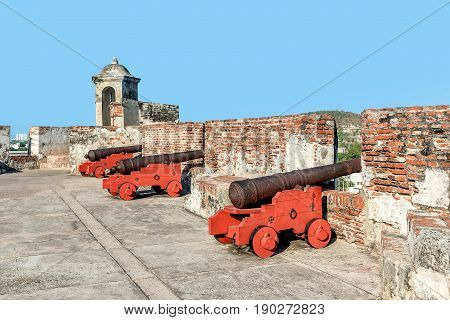 Fort San Felipe in old town Cartagena Colombia