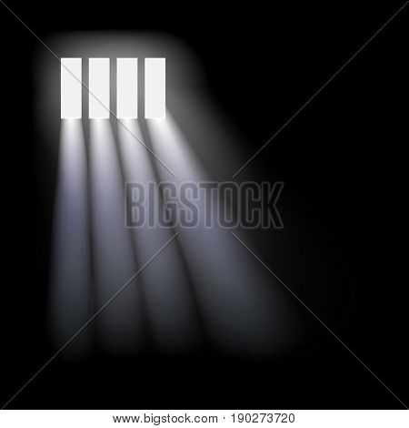 Prison window background. Vector concept template illustration.