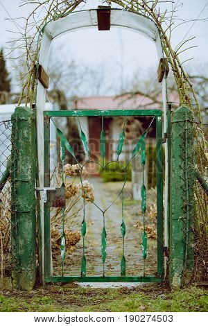 Rustic Entrance To Vegetable Plot