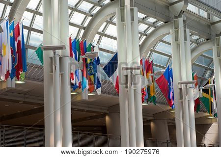 WASHINGTON, DISTRICT OF COLUMBIA - APRIL 14: A View of the U.S. Customs and Border Protection Building on April 14, 2017