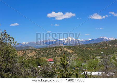 The La Plata mountains in Durango, CO