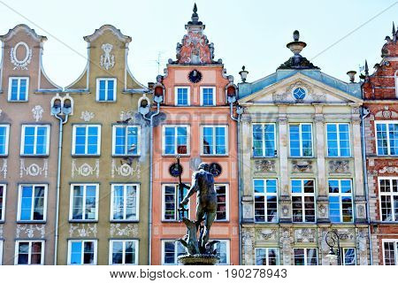 Sculpture Of A Neptune In Gdansk - View From Back