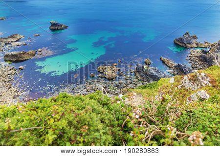 Popular Heritage Coast Atlantic ocean, Cornwall, England, United Kingdom