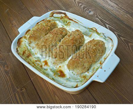 Fish Stick Casserole - fast-to-assemble fish and potato casserole.