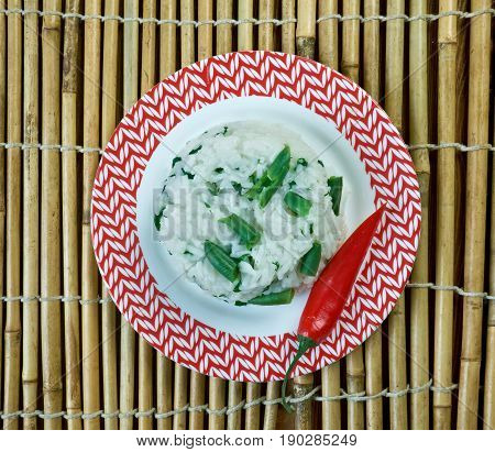 Rice Fried With Green Curry