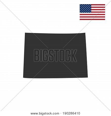 U.S. state of Colorado on the map on a white background