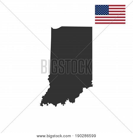 map of the U.S. state of Indiana on a white background