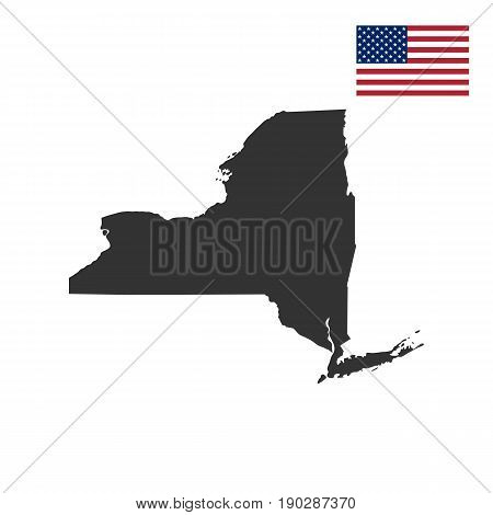 map of the U.S. state of New York on a white background