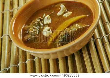 Murgh Shahi Korma. Indian food close up.