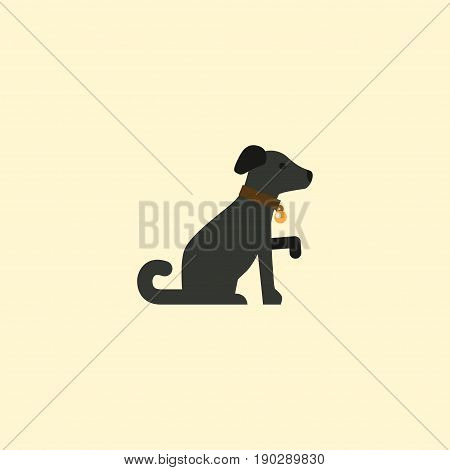 Flat Icon Dog Element. Vector Illustration Of Flat Icon Hound Isolated On Clean Background. Can Be Used As Hound, Dog And Pooch Symbols.
