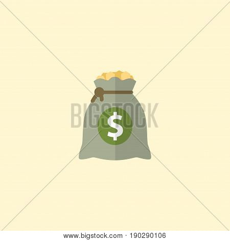 Flat Icon Profit Element. Vector Illustration Of Flat Icon Income Isolated On Clean Background. Can Be Used As Income, Profit And Money Symbols.