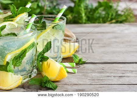 Chilled Mint Lemonade Background
