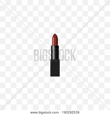 Realistic Lipstick Element. Vector Illustration Of Realistic Pomade Isolated On Clean Background. Can Be Used As Pomade, Lipstick And Cosmetic Symbols.