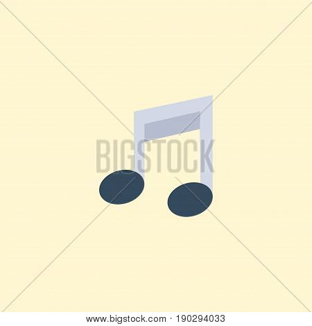 Flat Icon Musical Note Element. Vector Illustration Of Flat Icon Tone Symbol Isolated On Clean Background. Can Be Used As Note, Musical And Symbol Symbols.