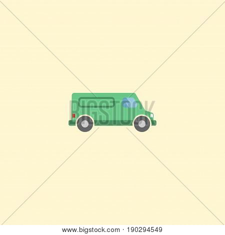 Flat Icon Van Element. Vector Illustration Of Flat Icon Carriage Isolated On Clean Background. Can Be Used As Van, Carriage And Vehicle Symbols.