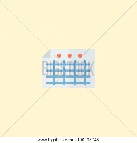 Flat Icon File Element. Vector Illustration Of Flat Icon Sheet Isolated On Clean Background. Can Be Used As File, Sheet And Paper Symbols.