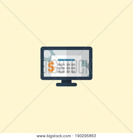 Flat Icon Software Element. Vector Illustration Of Flat Icon Accounting System  Isolated On Clean Background. Can Be Used As Accounting, System And Software Symbols.