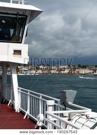Crossing Strangford Lough on the Car Ferry