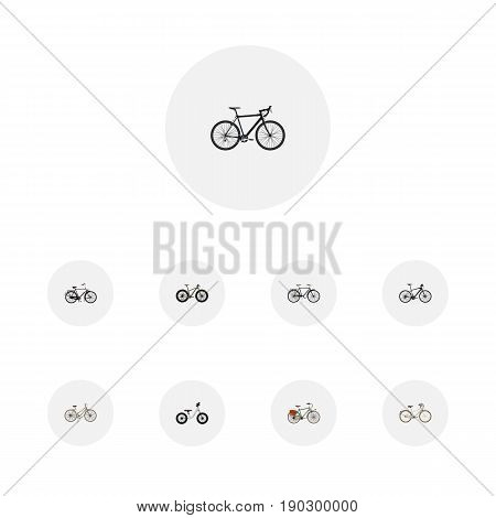 Realistic Cyclocross Drive, Bmx, For Girl And Other Vector Elements. Set Of Bike Realistic Symbols Also Includes Woman, Old, Equilibrium Objects.