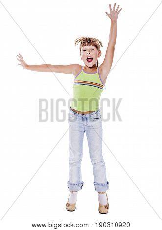 Girl Playing Superhero