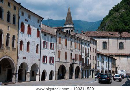 27 may 2017-vittorio veneto-Historic central streets in the city of Vittorio Veneto