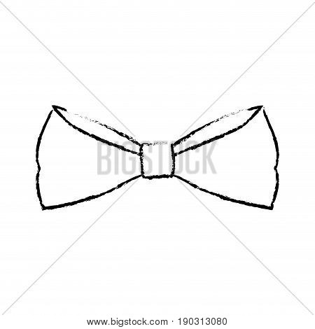 bowtie elegance hipster wear icon vector illustration