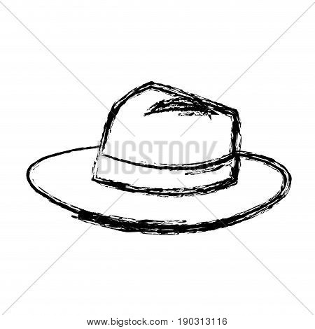 hat for men elegance with ribbon accessory icon vector illustration