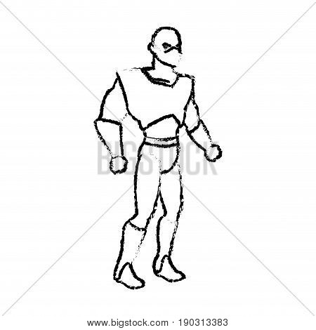 superhero wearing suit cape boots default image vector illustration